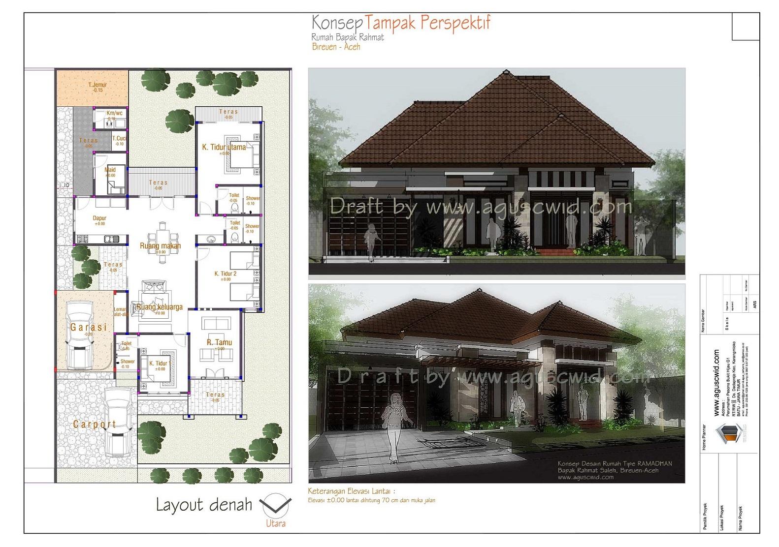 Review Desain Rumah Tropis Modern Tipe RAMADHAN Bapak Rahmat